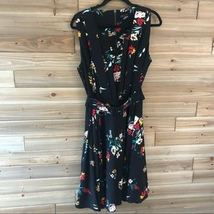 City Chic Belted floral fit n flare dress size 16